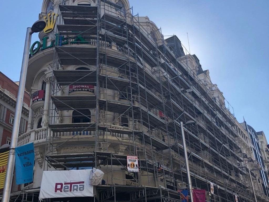 Rehabilitación de edificio Gran Vía Madrid