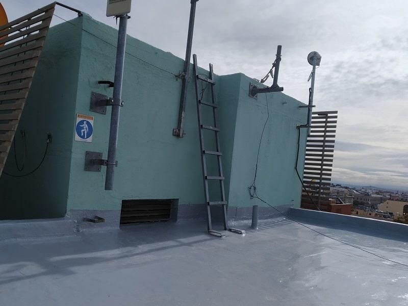 Impermeabilización cubiertas edificio Mutua Madrileña