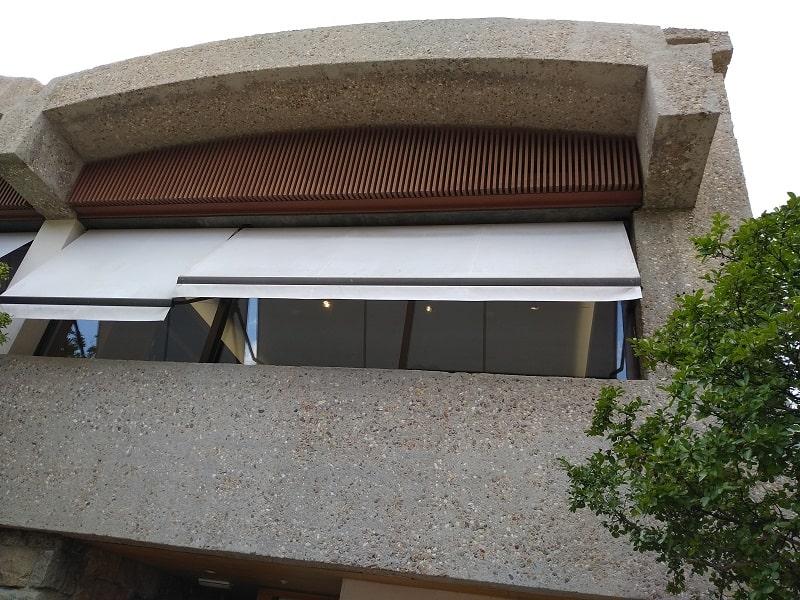 Restauración de hormigón en edificio de Madrid